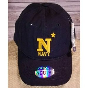 NCAA Youth Navy Stitched Logo Ball Cap NWT